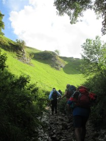 Climbing through Cavedale