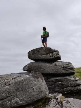 Mandy on Coombeshead Tor