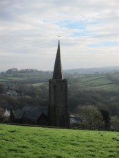 The crooked spire of Ermington Church