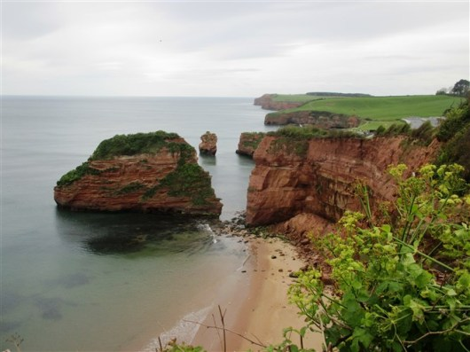 Looking down to Ladram Bay