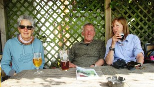 Drinks in the sunny garden of the Bulls Head