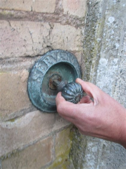 Old Servants Bell from Tower House, once a victorian Villa