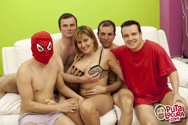 El segundo Gang Bang de Nuria la madurita