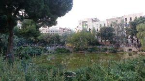 Plaça de Gaudí Barcelona Spain