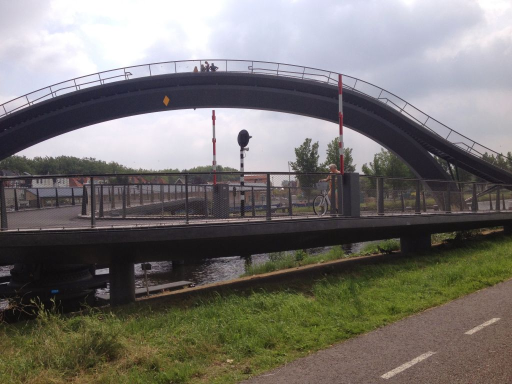 Pedestrian and bike bridge