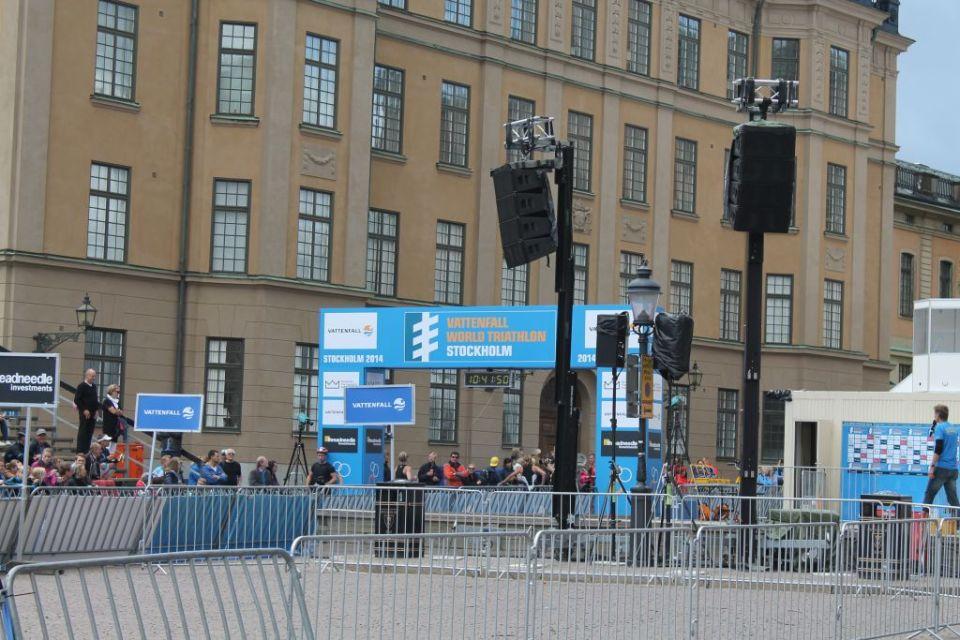 Finish line Slottsbacken, Stockholm Triathlon 2014