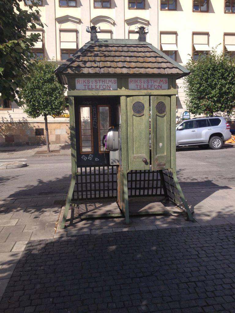 Phone Booth Kornhamnstorg Old Town Stockholm