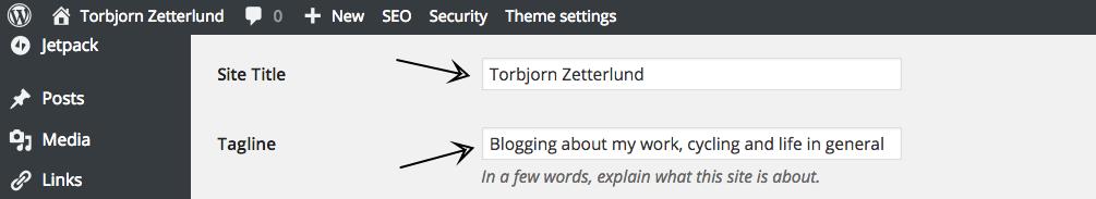 General Settings ‹ Torbjorn Zetterlund — WordPress
