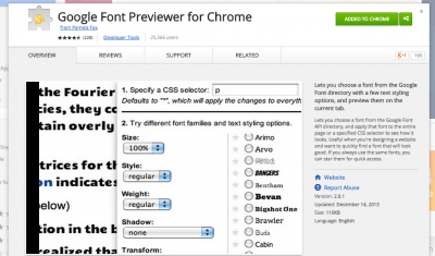 Google Font Previewer for Chrome - Chrome Web Store