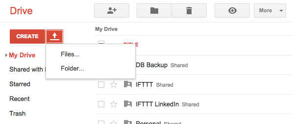 Upload File Google Drive