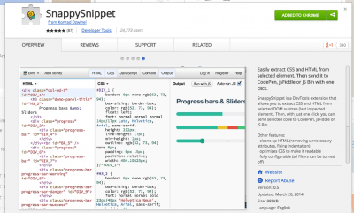 SnappySnippet - Chrome Web Store