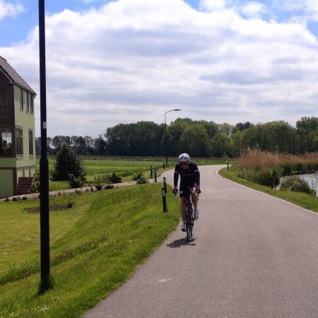 Cycling on Kromme Mijdrecht, De Hoef Netherlands
