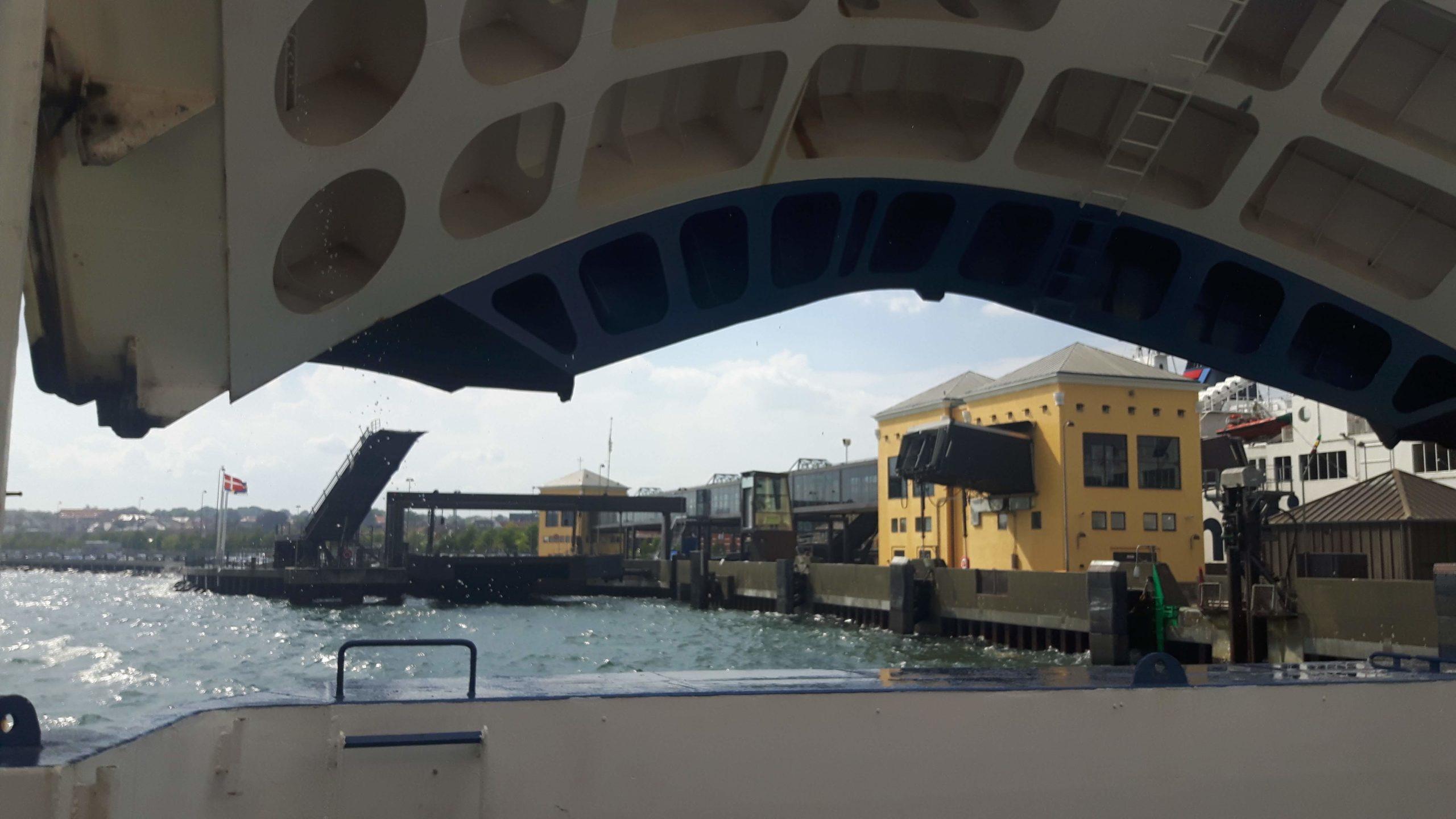 Entering Denmark on Ferry