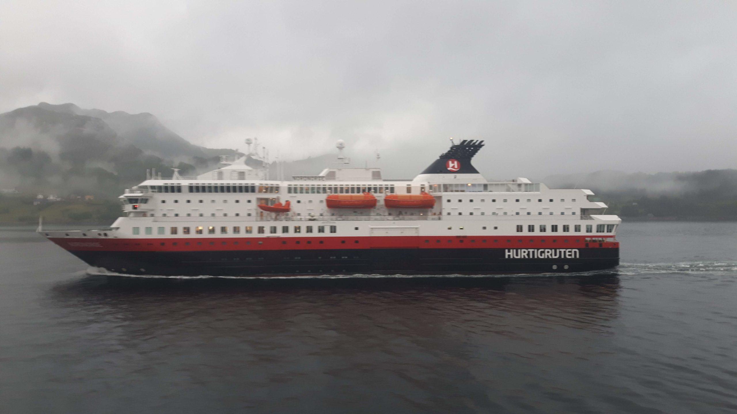 Another Hurtigruten Ship on route