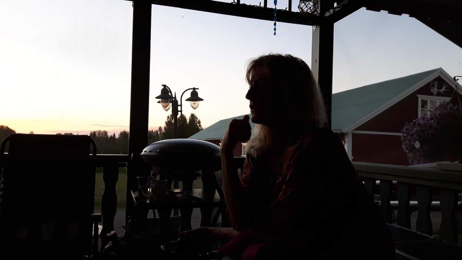 silhouette Thord's veranda Junosuando Sweden