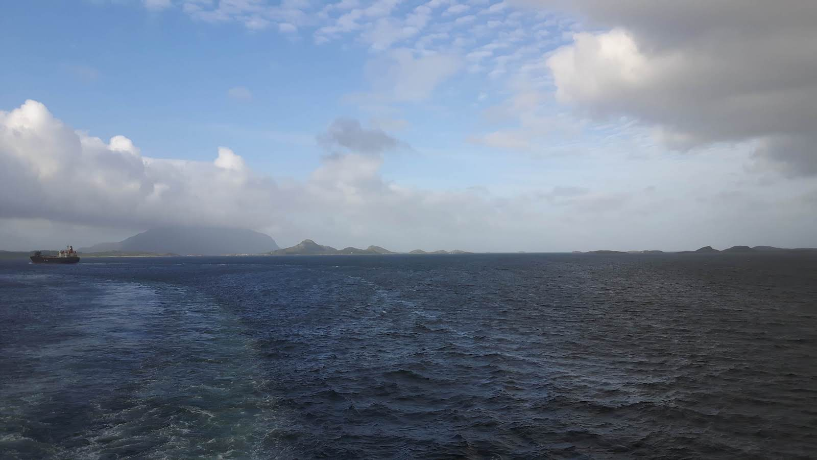 Sea wind coastal sailing Norway