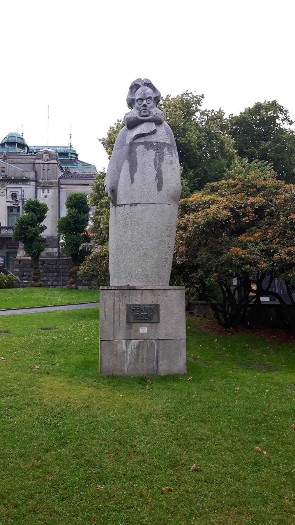 Henrik Ibsen Statue Bergen Norway