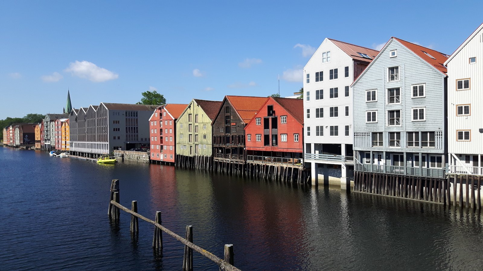 Colorful Buildings Trondheim Norway