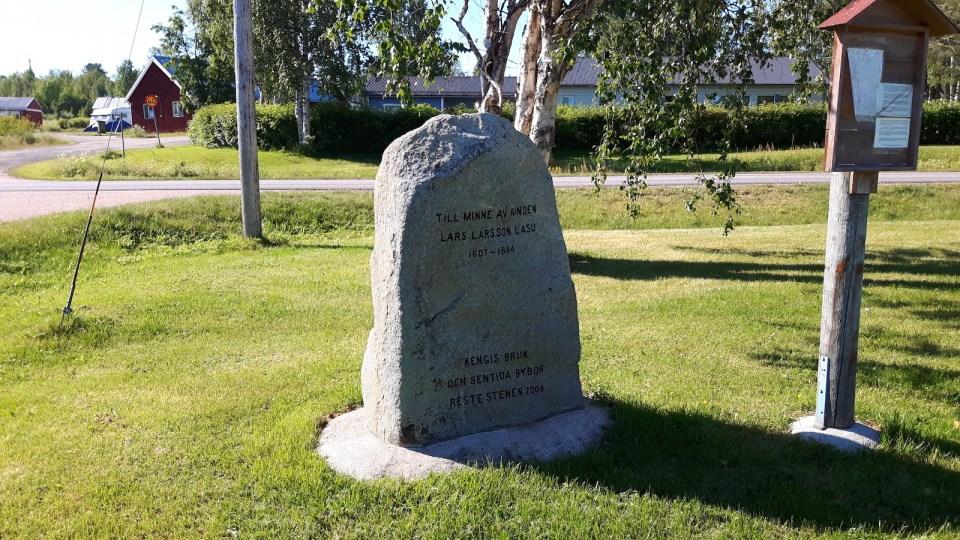 The Lasu stone in Junosuando Sweden