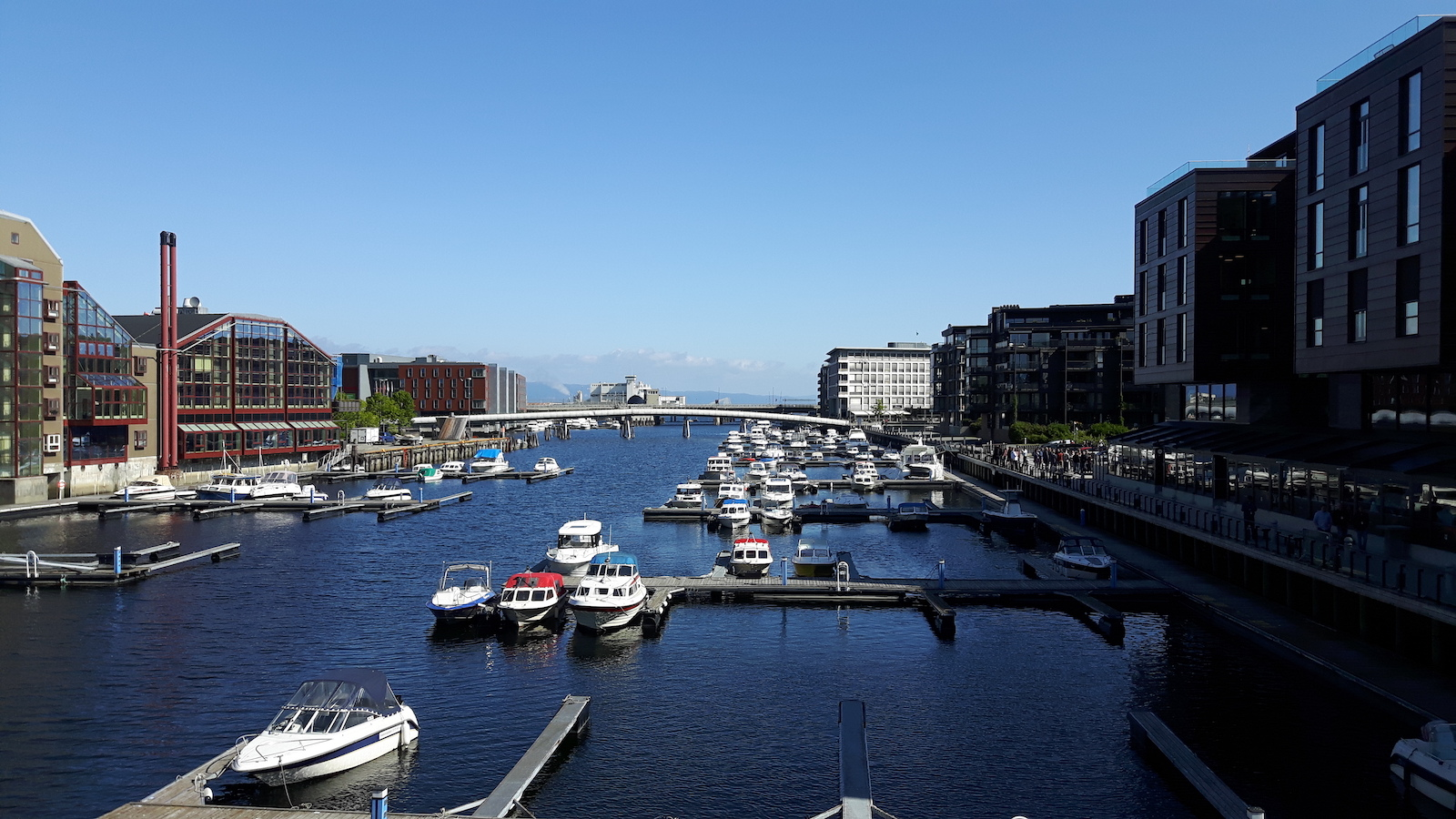 Small Boats Harbour Trondheim Norway
