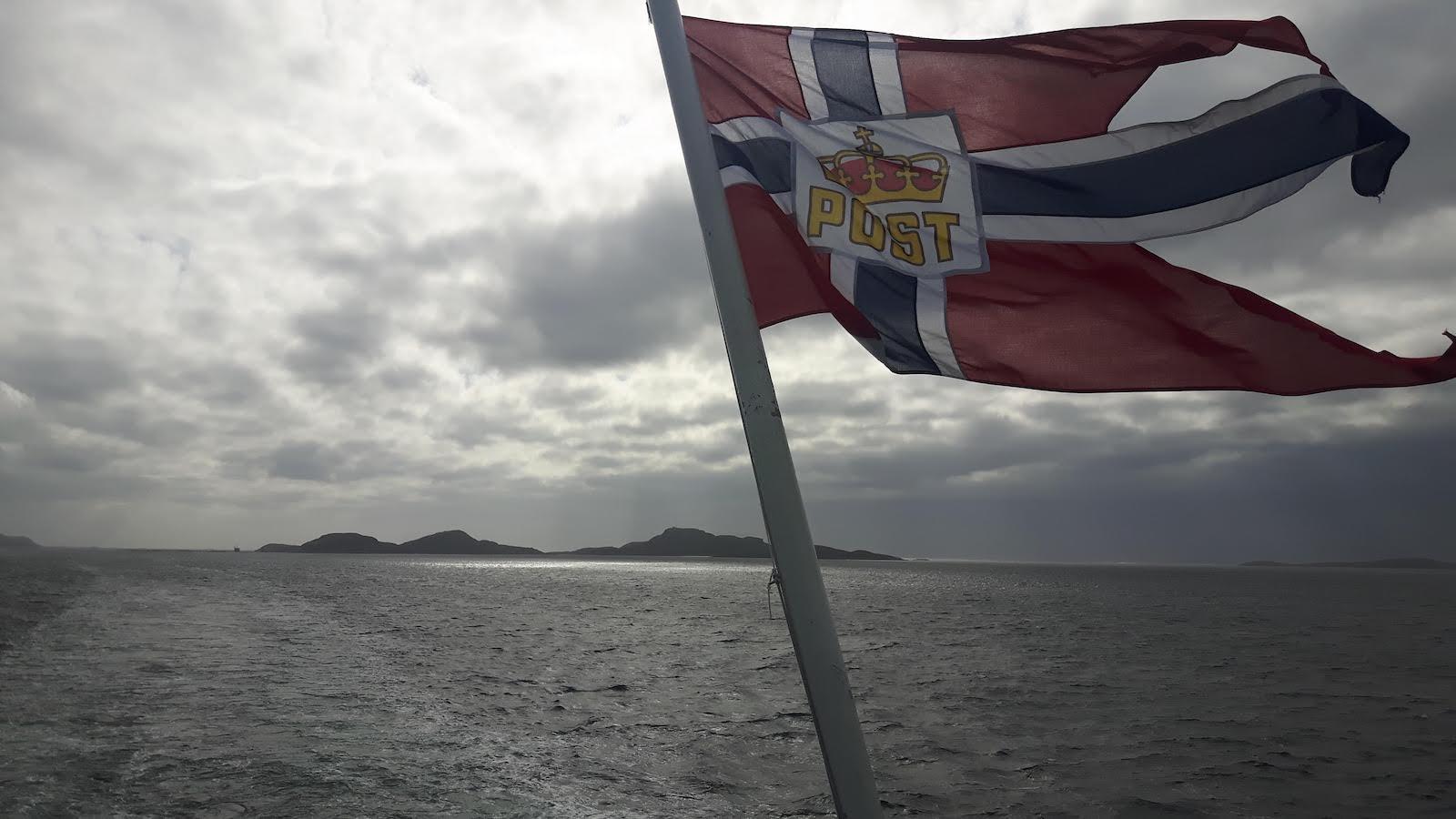 Sailing onboard the ship Hurtigruten