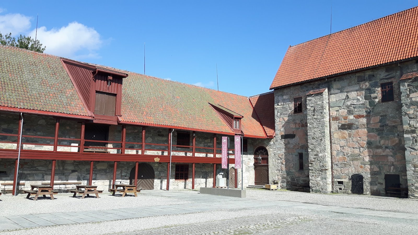 Nidaros Cathedral Court yard Trondheim Norway