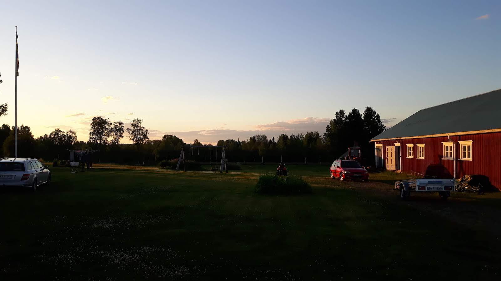 Sunset from Thord veranda Junosuando