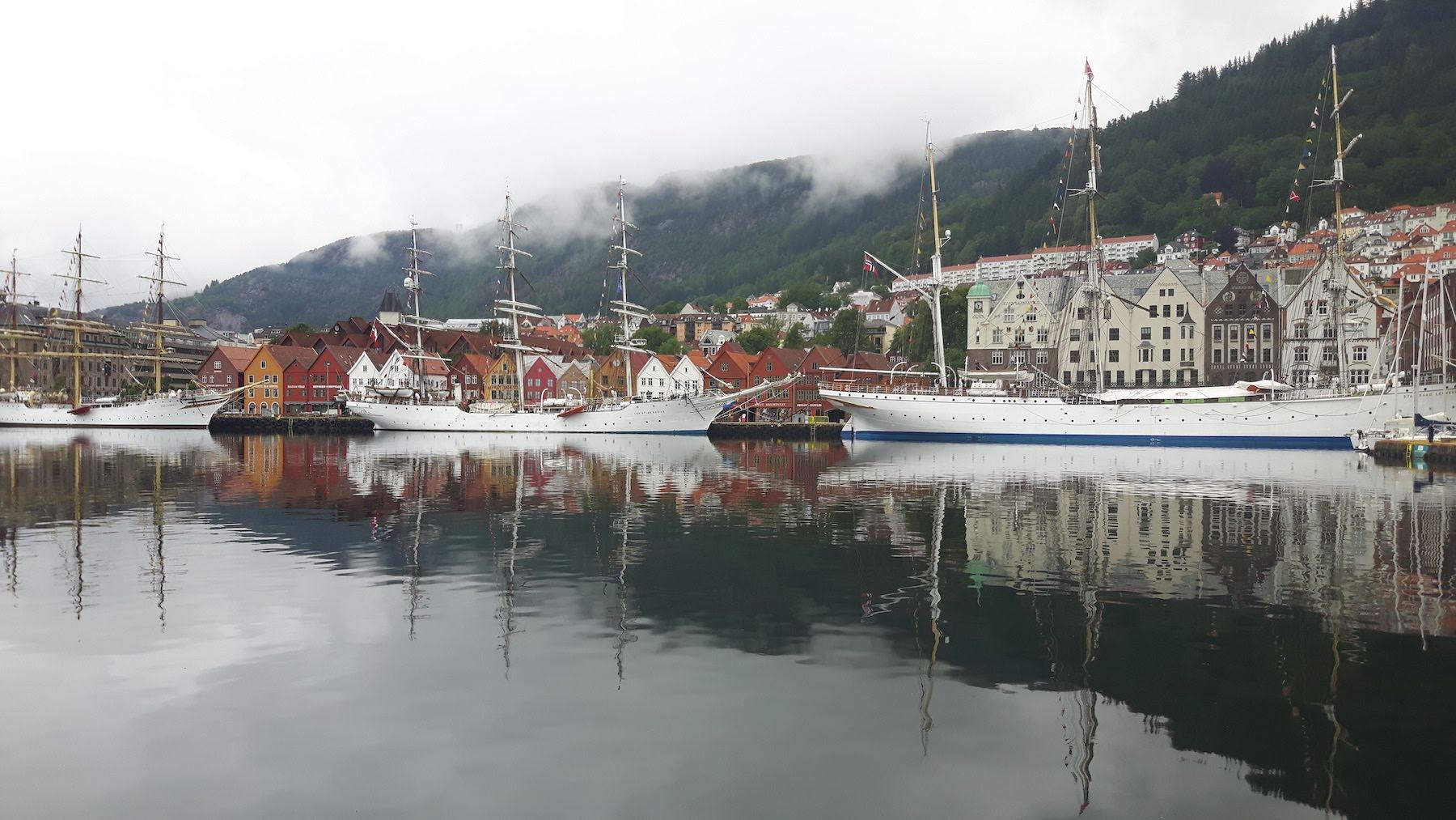 Sails ships Bergen Norway