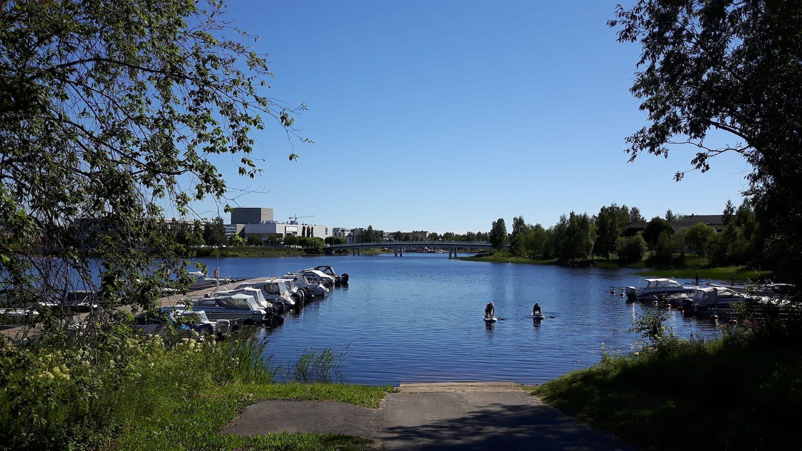 Oulu Finland paddle boats