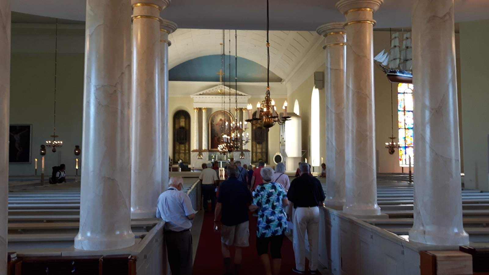 Inside the church Oulu Finland