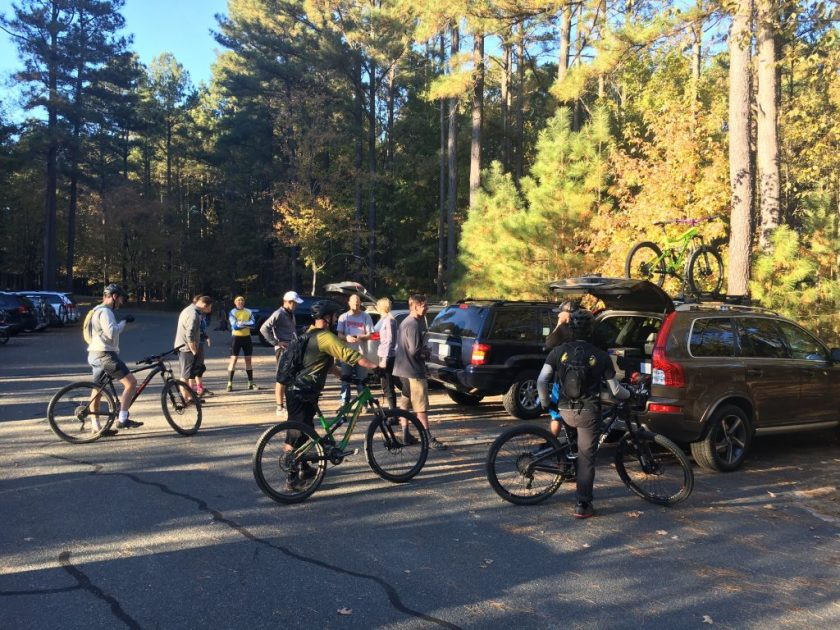 The weekly harris lake group ride is always fun!