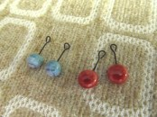 two pair handmade clay drops