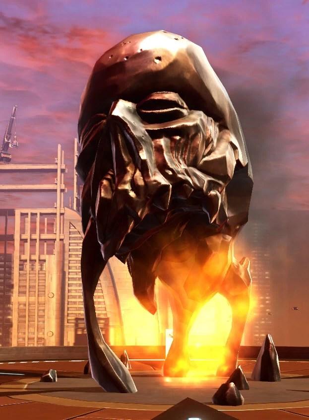 Statue of the Burning Skull