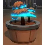 Potted Plant: Luminescent Mushrooms (Blue)