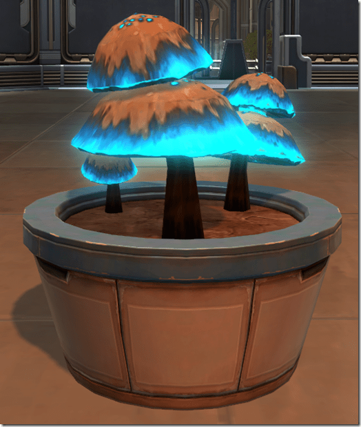 Potted Plant Luminescent Mushrooms (Blue)