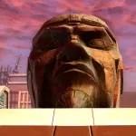 Yavin Head Sculpture