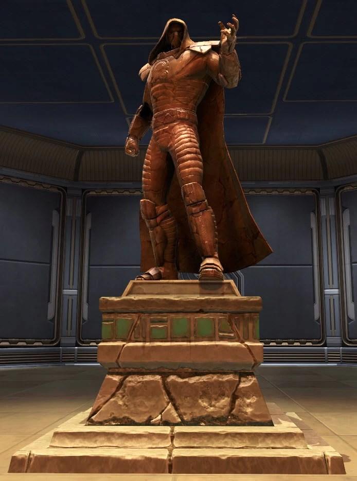TOR Decorating  Commemorative Statue of Darth Malgus SWTOR