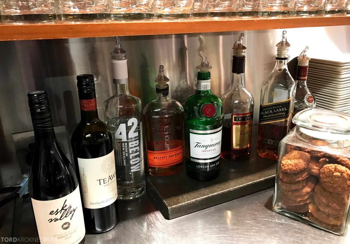 Air New Zealand Lounge Wellington alkohol