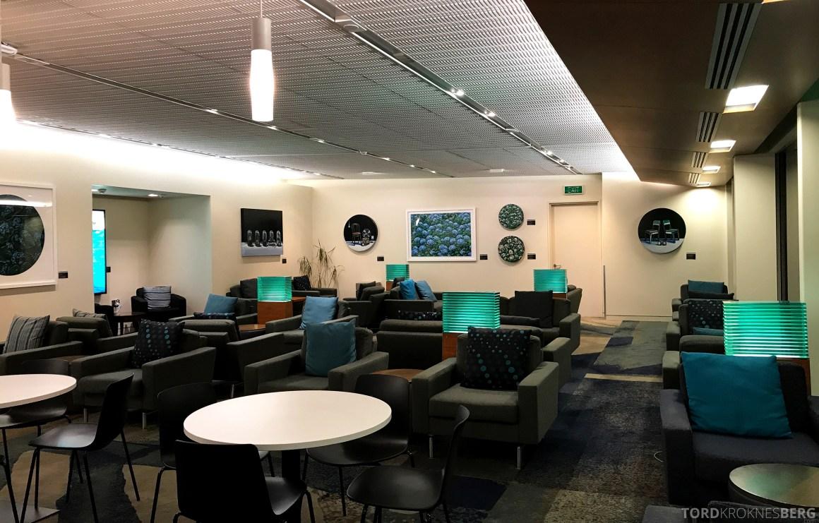 Air New Zealand Lounge Wellington sitteplasser