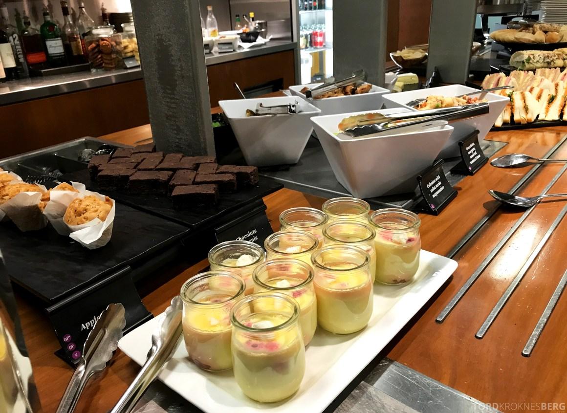 Air New Zealand Lounge Wellington dessert