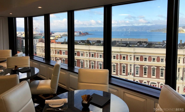 InterContinental Wellington Club Lounge utsikt