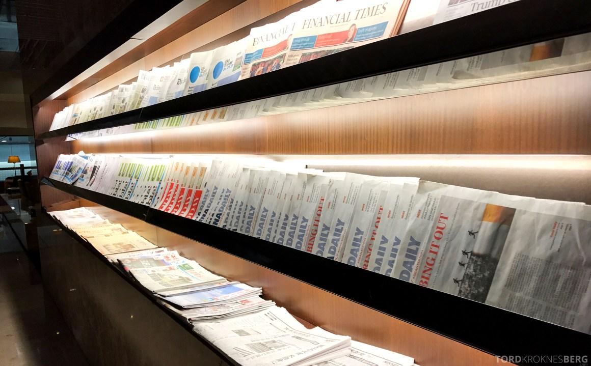 Singapore Airlines SilverKris Lounge aviser