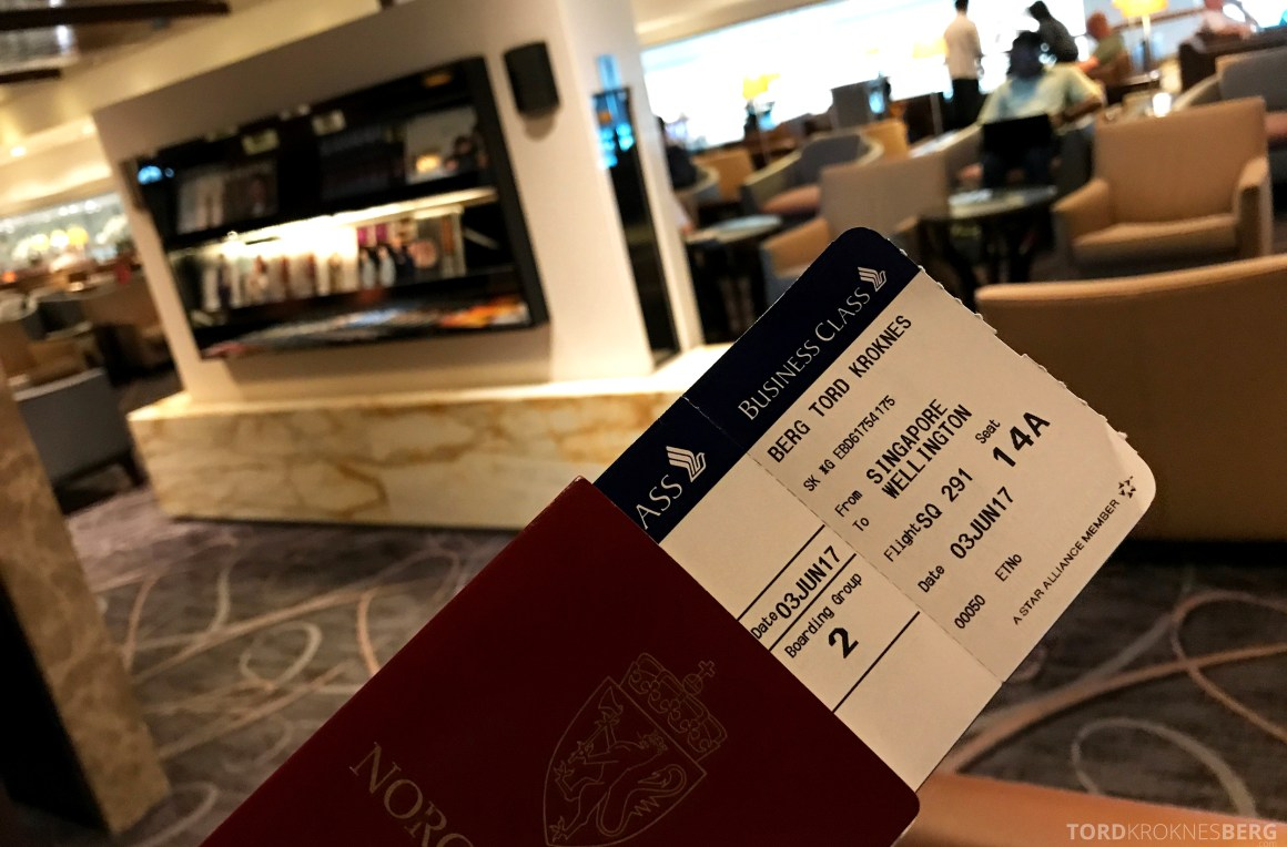 Singapore Airlines SilverKris Lounge billett