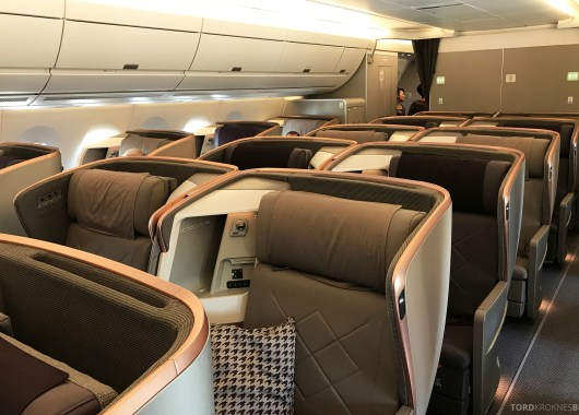 Singapore Airlines Business Class Stockholm Moskva kabin