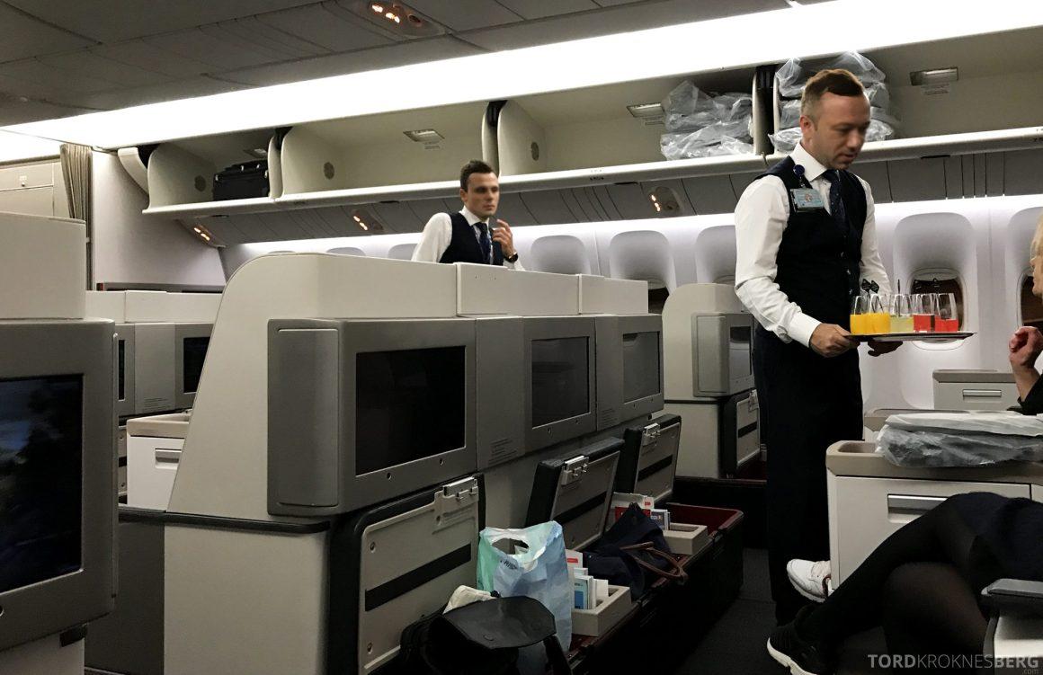 Turkish Airlines Business Class Istanbul Jakarta velkomstdrink