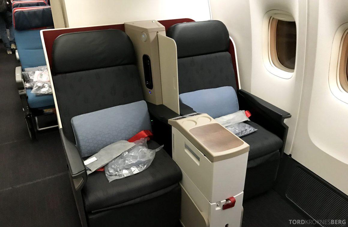 Turkish Airlines Business Class Istanbul Jakarta sete