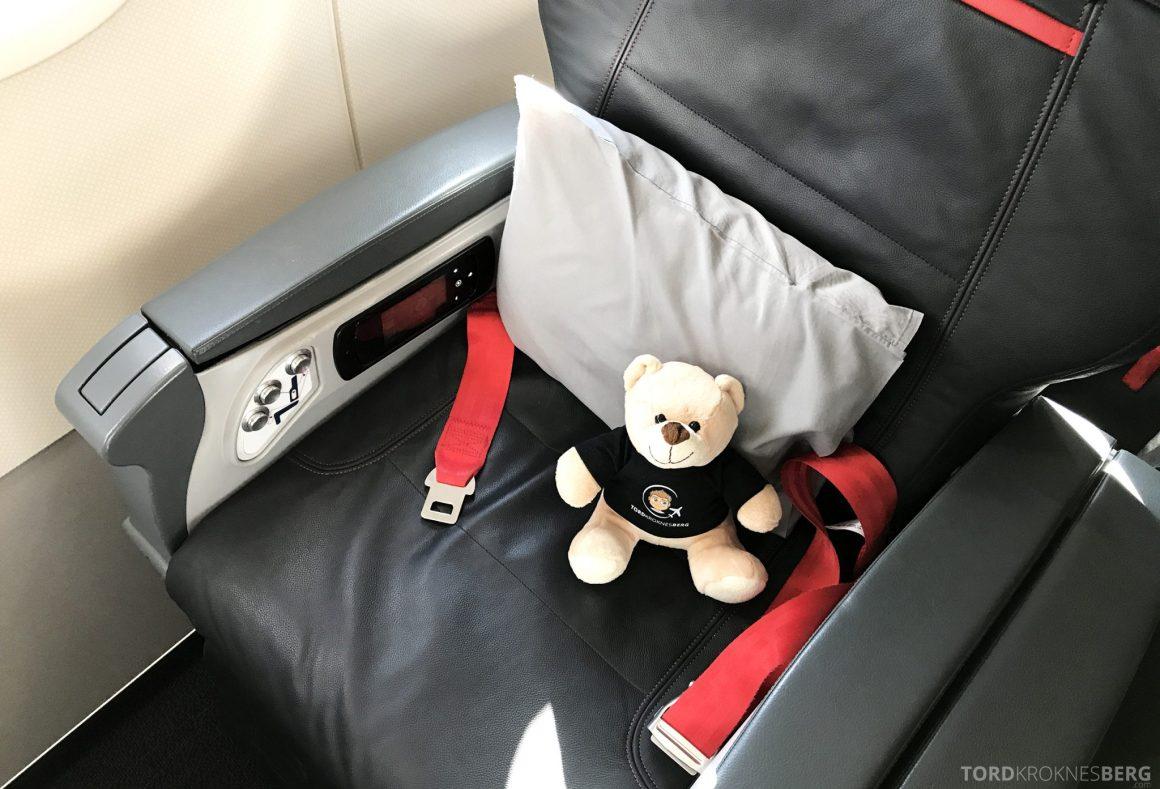 Turkish Airlines Business Class Oslo Istanbul reisefølget sete