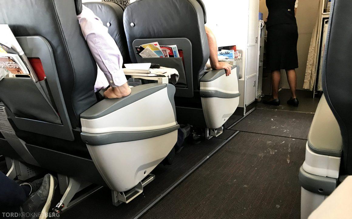 Turkish Airlines Business Class Oslo Istanbul skitten