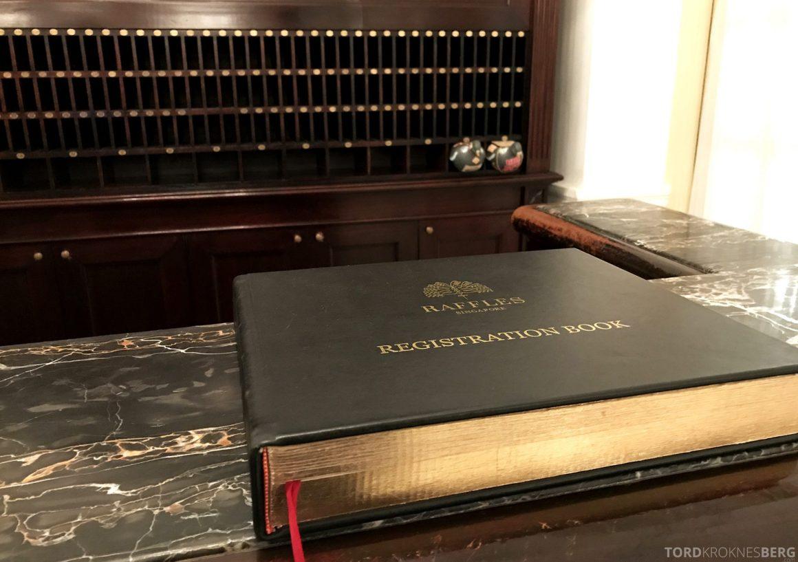 Raffles Hotel Singapore resepsjon