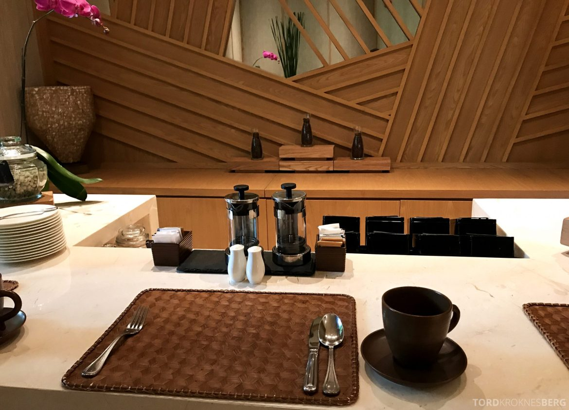 Ritz-Carlton Bali Club Lounge kaffe